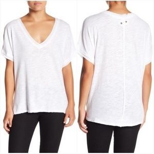 Free People We The Free White Take Me Tee Sz M